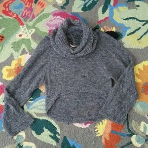 Free People Cozy Cowl Neck Gray Soft Sweater